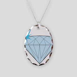 Diamond Necklace Oval Charm