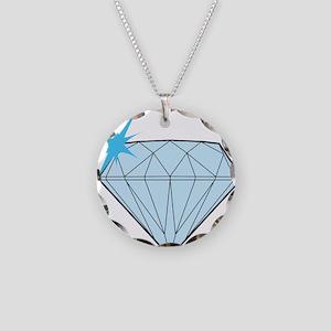 Diamond Necklace Circle Charm