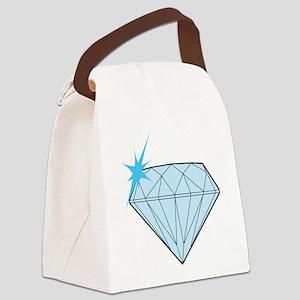 Diamond Canvas Lunch Bag