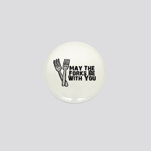 Forks Be With You Mini Button