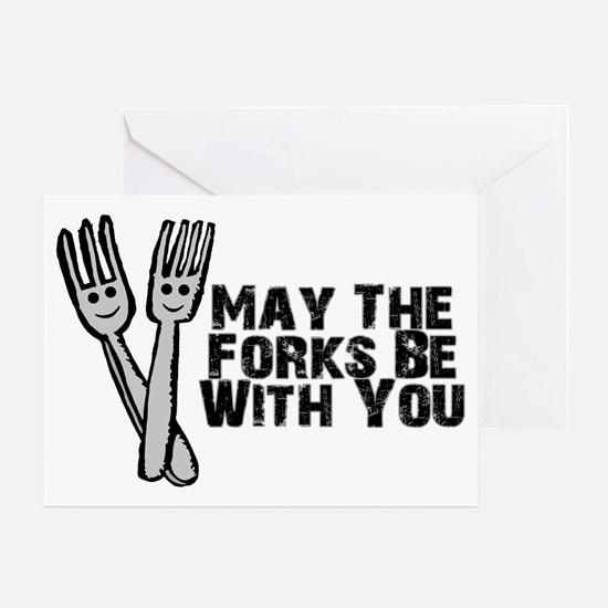 Forks Be With You Greeting Card