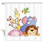 Jungle Animals Shower Curtain