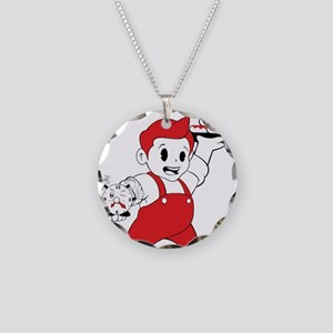 Donut Time Necklace Circle Charm