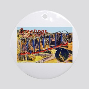 Badlands Greetings Ornament (Round)
