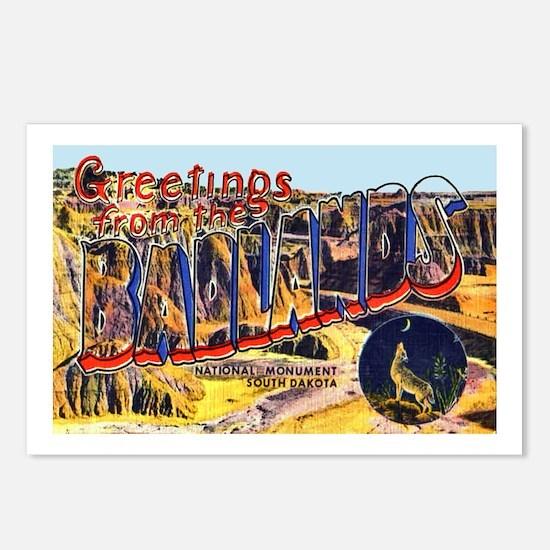 Badlands Greetings Postcards (Package of 8)
