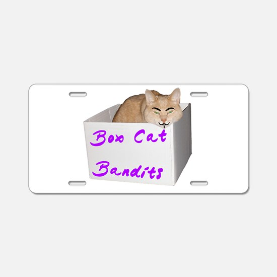 Box Cat 2 Aluminum License Plate