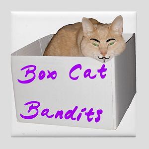 Box Cat 2 Tile Coaster