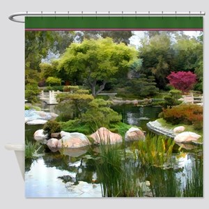 Japanese Garden Panorama copy Shower Curtain