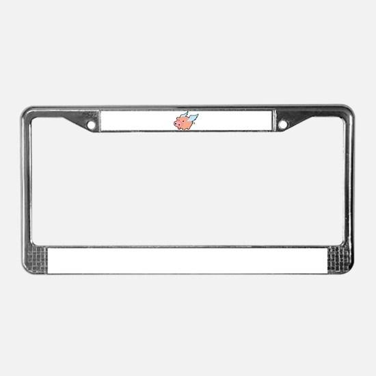 Flying Pig License Plate Frame