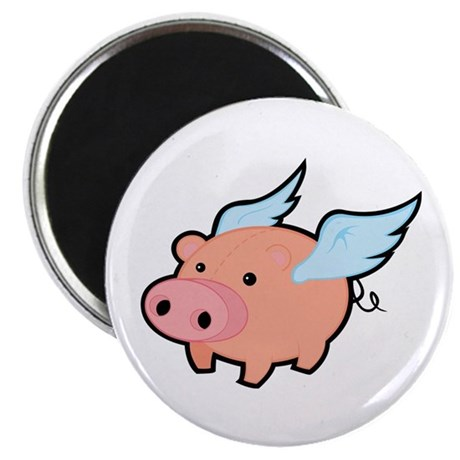 """Flying Pig 2.25"""" Magnet (10 pack)"""