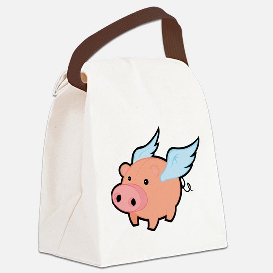 Flying Pig Canvas Lunch Bag