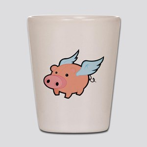 Flying Pig Shot Glass