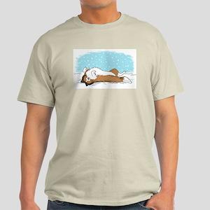 Happy Snow Sheltie Light T-Shirt