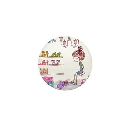 Girly Mini Button (100 pack)