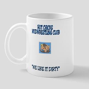 Mudwrestling club2 Mugs