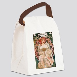 Alphonse Mucha Reverie Canvas Lunch Bag
