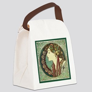 Alphonse Mucha Laurel Canvas Lunch Bag