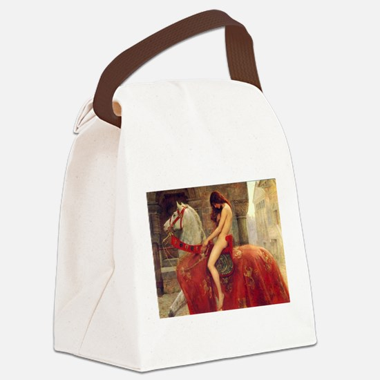 John Collier Lady Godiva Canvas Lunch Bag