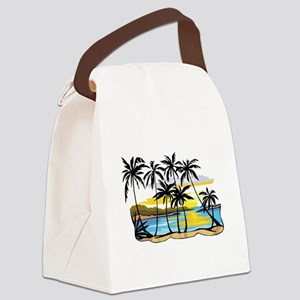 Beautiful Beach Canvas Lunch Bag