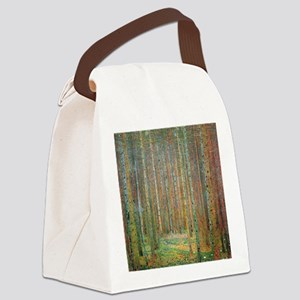 Gustav Klimt Pine Forest Canvas Lunch Bag