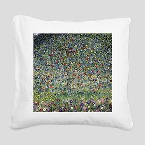 Gustav Klimt Apple Tree Square Canvas Pillow
