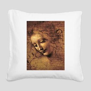 Leonardo Da Vinci La Scapigliata Square Canvas Pil