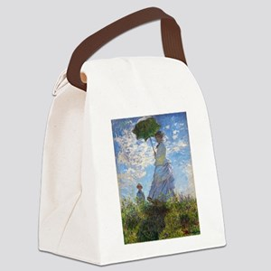 Monet Woman with a Parasol Canvas Lunch Bag