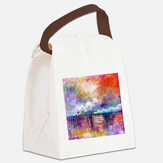 Funny Monet Canvas Lunch Bag