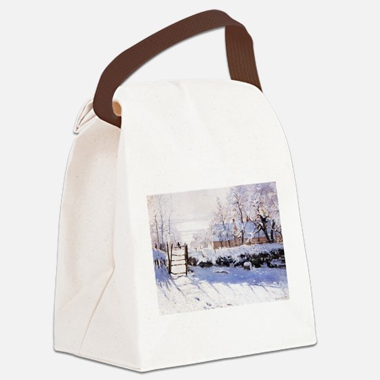 Claude Monet The Magpie Canvas Lunch Bag