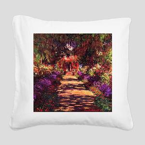 Path In Monet's Garden Square Canvas Pillow