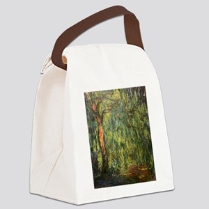 Claude Monet Weeping Willow Canvas Lunch Bag