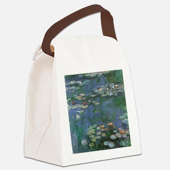 Claude Monet Water Lilies Canvas Lunch Bag