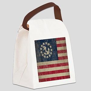 Vintage America Yacht Flag Canvas Lunch Bag