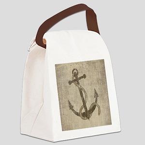 Vintage Anchor Canvas Lunch Bag