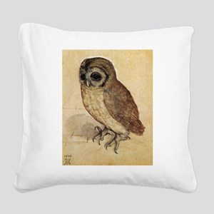Durer The Little Owl Square Canvas Pillow