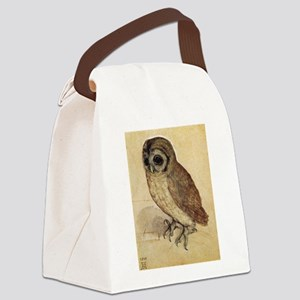 Durer The Little Owl Canvas Lunch Bag