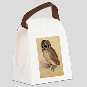 Durer The Little Owl Canvas Lunch Bag