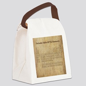 Vintage Periodic Table Canvas Lunch Bag