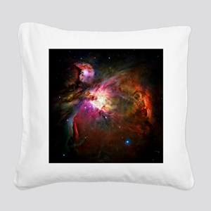 Orion Nebula (High Res) Square Canvas Pillow
