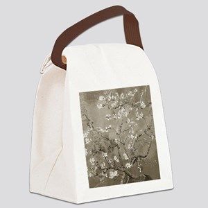 Almond Branches In Bloom (Sepia) Canvas Lunch Bag