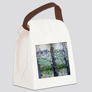 Van Gogh Flowering Orchards Canvas Lunch Bag