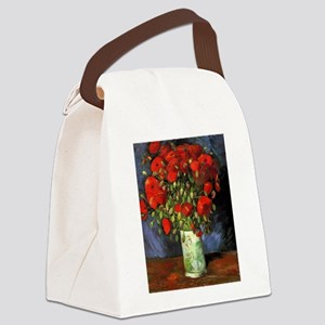 Van Gogh Red Poppies Canvas Lunch Bag