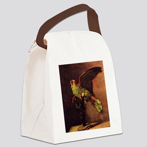 Van Gogh The Green Parrot Canvas Lunch Bag