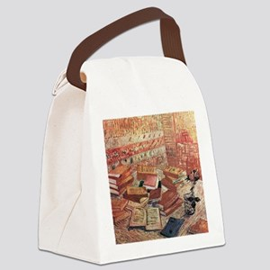 Van Gogh French Novels and Rose Canvas Lunch Bag