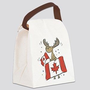 Canada Day Moose Canvas Lunch Bag