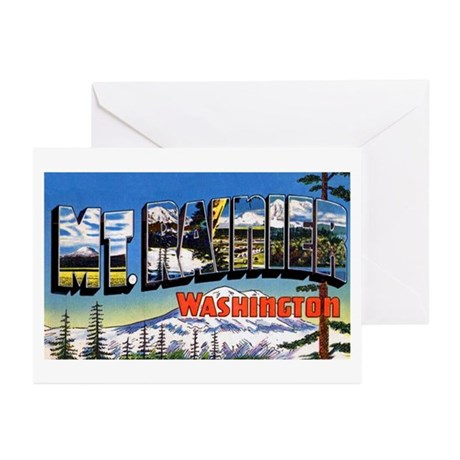 Mt Rainier Washington Greeting Cards (Pk of 10