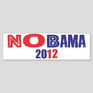 NOBAMA 2012 Sticker (Bumper)