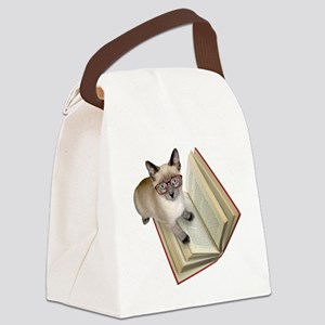 Kitten Book Canvas Lunch Bag