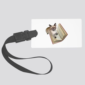 Kitten Book Large Luggage Tag