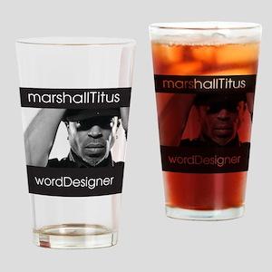 Marshall wordDesigner Drinking Glass